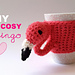 Flamingo mood (mug cosy) pattern