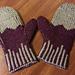 Double Knit Angle Mittens pattern