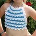 Icing on the Cake Halter Tie-Back Top pattern