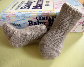Garter Stripe Baby Socks