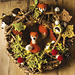 Autumn wreath pattern
