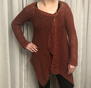 Knitted with Yarnz2go Bambon yarn in the color Cinnamon.
