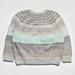 5色の糸で編む丸ヨークセーター pattern