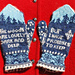 18th Century Poetry Mittens : Robert Frost pattern
