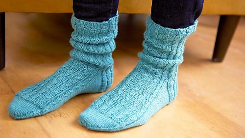 twisted rib socks