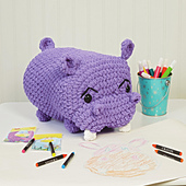 Henry Hippo from Cuddly Crochet Critters