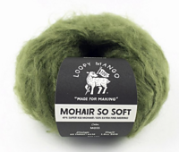 Mohair So Soft Wrap Moss Loopy Mango DIY Knit Kit