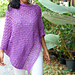 easiest purple poncho wrap pattern