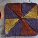 """Knit PInWheel 9"""" afghan block pattern"""
