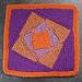 "Hurricane Sandy Whirly 9"" Afghan Block Knit pattern"