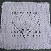 "Margaret Tulip 9"" Dishcloth Afghan Block Square pattern"