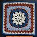 """Curmudgeon/Hermit B 9""""/12"""" Afghan Block pattern"""