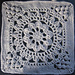 """Cathedral Converts 12"""" Afghan Block pattern"""