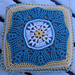 "Puff Wheat 12"" Afghan Block and Cushion extension pattern"