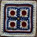 "Button, Button 9""/12"" Afghan Block pattern"