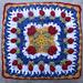 "Traipsing Through The Tulips 12"" afghan block pattern"