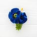Blue Poppy Flower Pin pattern