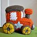 little toy train engine pattern