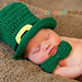 Lucky Leprechaun Hat and Bow Tie Photo Prop pattern