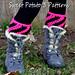 Diagonal Stripes Boot Cuffs pattern