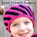 Diagonal Stripes Ear Warmer pattern