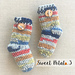 Newborn Socks (Crochet but look like Knit) pattern