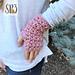 Cross My Heart Fingerless Gloves pattern