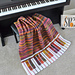 Piano Pizzazz Blanket pattern