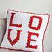 Love C2C Sherpa Pillow pattern