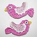 Crochet Bird Applique pattern