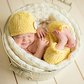 Knit Baby Hat and Pants