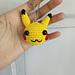 Pikachu Head Keychain pattern