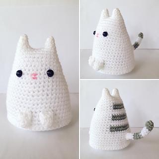 Monya the kitten crochet pattern in 2020 | Crochet toys free ... | 320x320