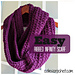 Easy Ribbed Infinity Scarf pattern