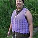 Vest with Lace Fans pattern