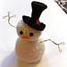 snowman in top hat pattern