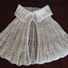 Lacy pleated mini cloak pattern