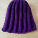 Figure-8 Ribbed hat pattern