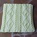 Diamond Cable Panels Travel Blanket pattern