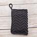 Chevron Seed Stitch Soap Sack pattern