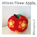 African Flower Apple pattern