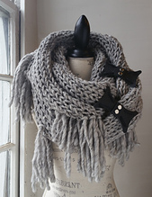 Pewter Cowl with JUL Gate Hinge closures to keep the two layers of the cowl perfectly positioned.