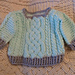 Aran Cable Baby Sweater pattern