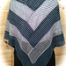 Lincoln Log Cabin Shawl pattern