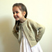 Baby - Girls textured raglan sleeve jacket  P045 pattern