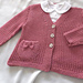 Baby - Girls textured V neck cardigan with detailed pocket P050 pattern