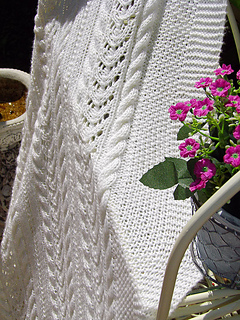 Ravelry Lace And Cable Blanket P053 Pattern By Oge