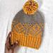 Autumn scene beanie pattern
