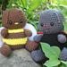 Bug Bundle: Bee, Ladybug, Butterfly, & Housefly pattern