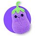 Eggplant Amigurumi pattern